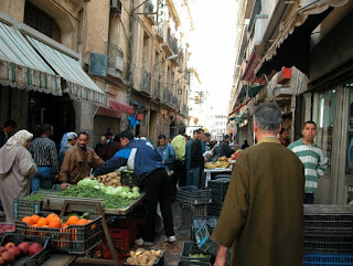 Algerian outdoor market
