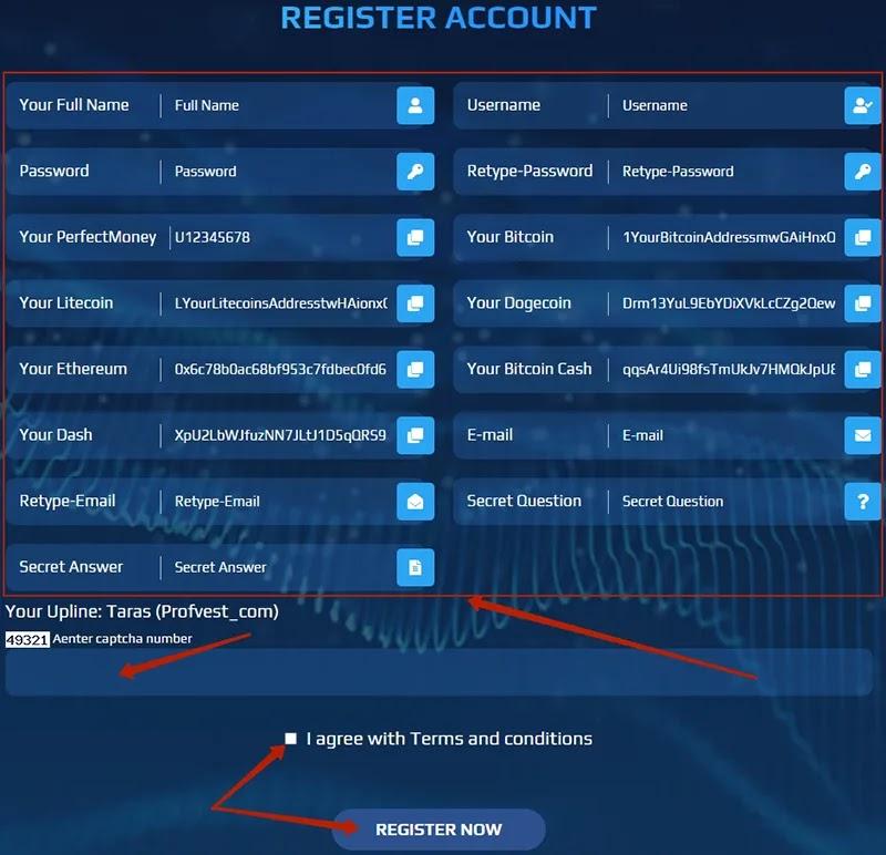 Регистрация в Praem Capital 2