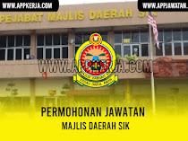 Jawatan Kosong Terkini di Majlis Daerah Sik