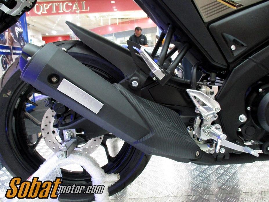 First impression Yamaha Xabre 150 dalam acara Soft Launching Newcomers Motorbike di Plaza Medan Fair . .