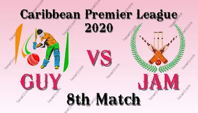 Who will win GUY vs JAM 8th T20 Match