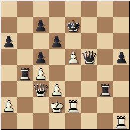 Partida de ajedrez Rey Ardid vs. Medina, posición después de 33.fxe5