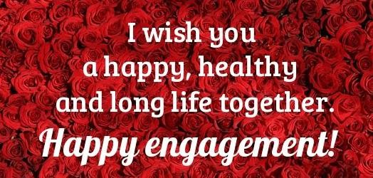 Engagement wishes with photo and name Happy engagement wishes images