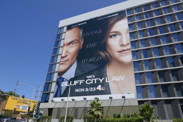 Giant Bluff City Law series premiere billboard