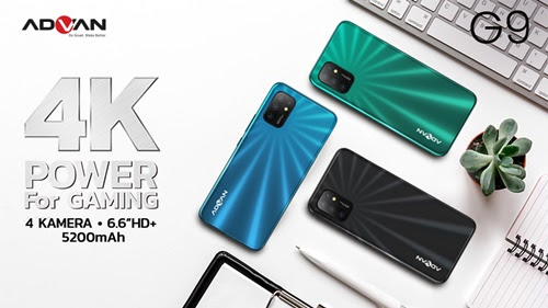 Advan G9 4K Power For Gaming, Smartphone Android harga 1jutaan Untuk Pecinta Game