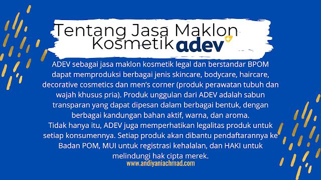 ADEV Maklon Kosmetik