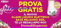 Logo Provami Gratis Glade Liquido Elettrico base Relaxing Zen: scopri come!