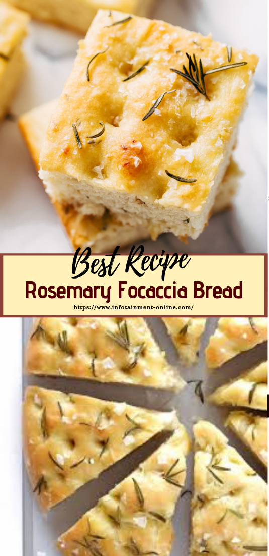 Rosemary Focaccia Bread #desserts #cakerecipe #chocolate #fingerfood #easy