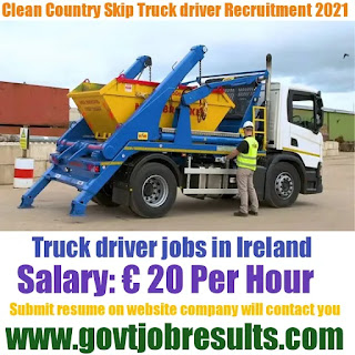 Country Clean Skip Truck Driver recruitment 2021-22