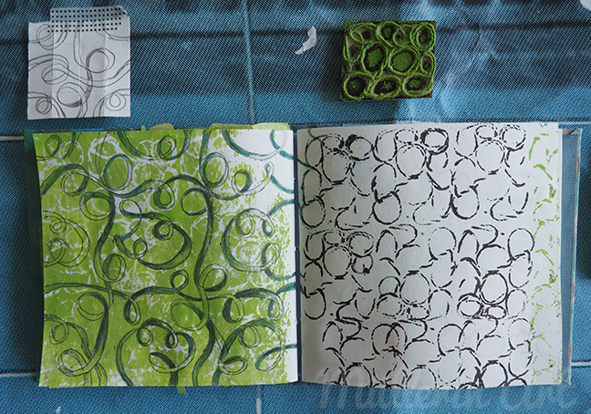 Kordeldruck Sketchbook ©Müllerin Art