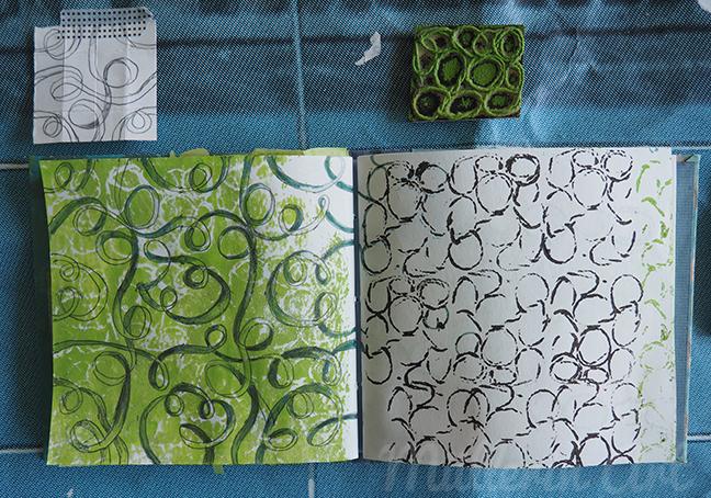 Kordeldruck Sketchbook ©Müllerin Art
