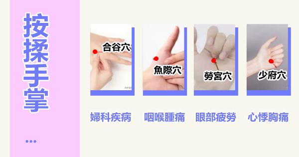 每天學點中醫穴位:每天按揉手掌這4個穴,補腎納氣,清熱止咳