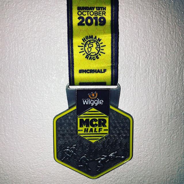 Manchester Half Marathon medal 2019