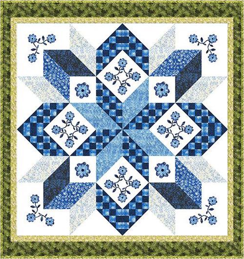 Sky Water Mill - Free Quilt Pattern