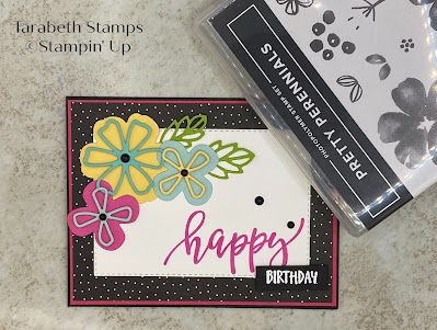 Stampin' Up  Pretty Perennial Happy Birthday
