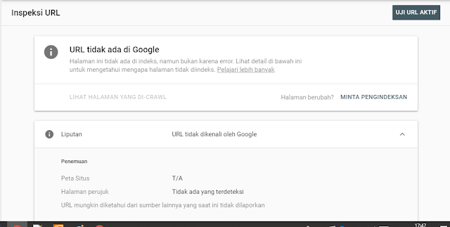 Cara submit URL blog ke Google dengan Google Search Console