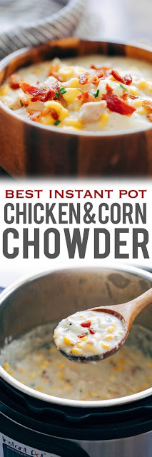 Best Instant Pot Chicken &Corn Chowder