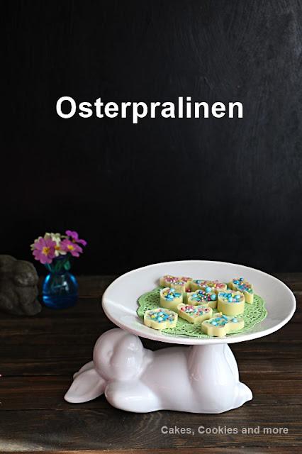 Rezept und Anleitung für Osterpralinen mit weisser Schokolade