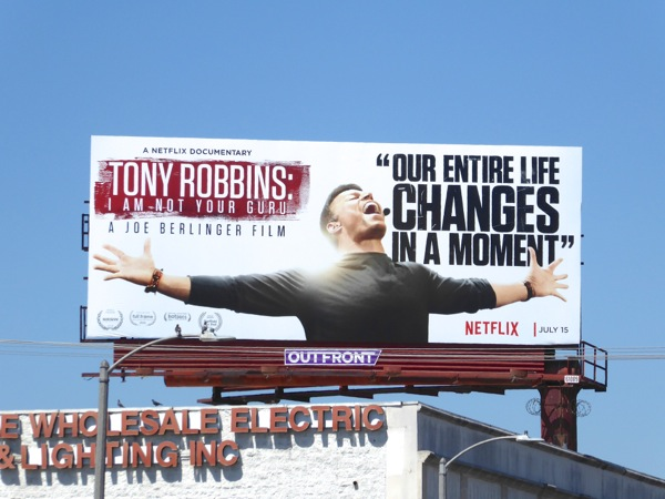 Tony Robbins not your Guru documentary billboard
