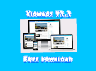 Gambar download template Viomagz