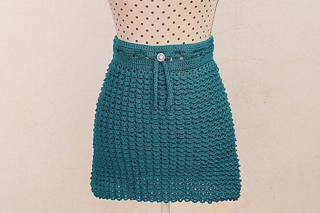 1 - Crochet Imagen Falda verde a crochet y ganchillo sencilla facil DIY por Majovel Crochet