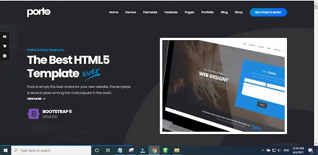 Features of Porto – Responsive HTML5 Template