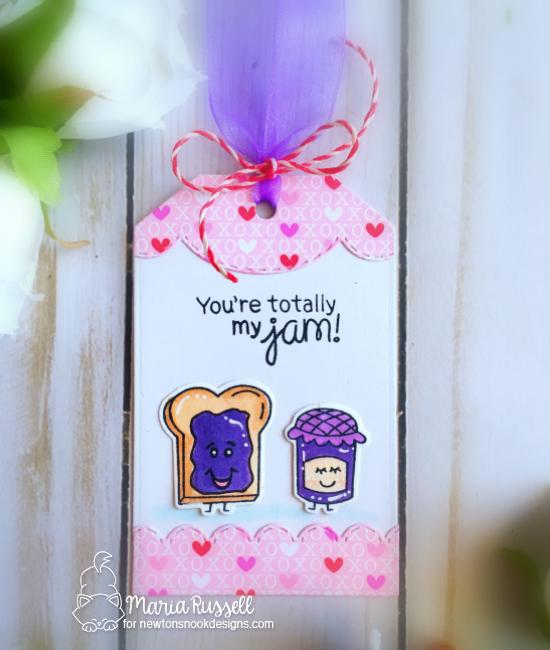 You're totally my Jam Valentine Card by Maria Russell | Love Bites Stamp Set by Newton's Nook Designs #newtonsnook #handmade