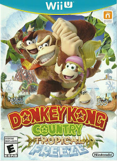 Portada del disco para la WiiU de Donkey Kong Country Tropical Freeze (2014)