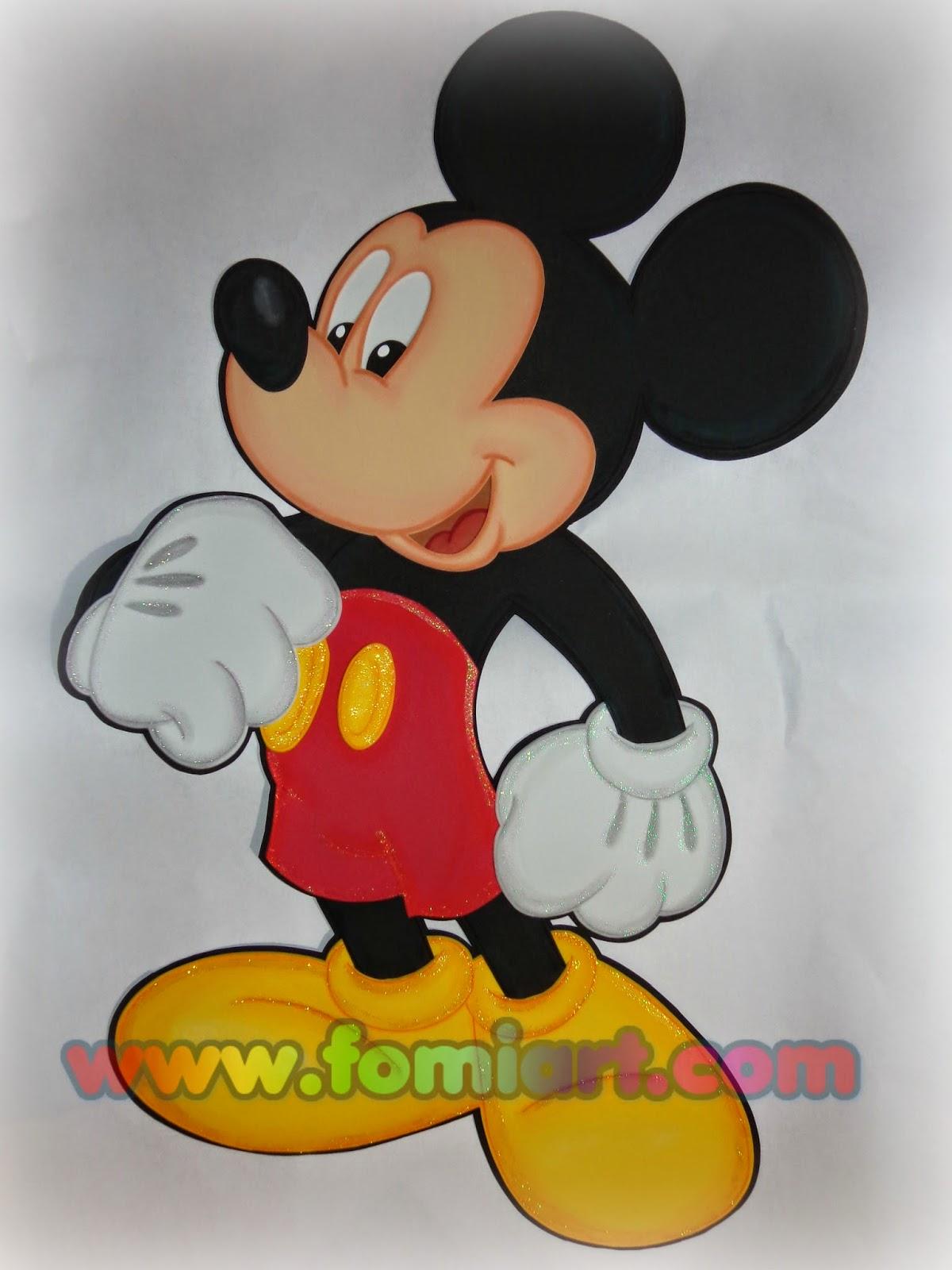 #mickey Mouse en fomi, foamy, goma eva
