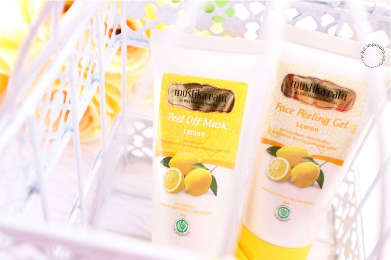 Mustika Ratu Peel Off Mask dan Face Peeling Gel Lemon