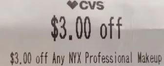 $3.00 off any Nyx Makeup CVS crt store Coupon (Select CVS Couponers)