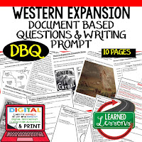 Western Expansion DBQ, Early American History DBQ, DBQ Document Based Question Writing Activity, American History Activities