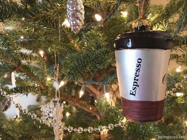 adorno de café para árbol de Navidad