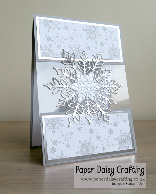 Snowfall Thinlits and Snow in Glistening from Stampin Up