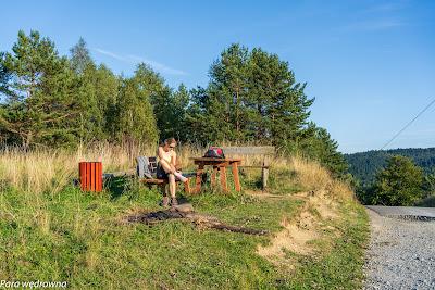 Przełęcz Hutniańska - punkt widokowy i miejsce odpoczynku