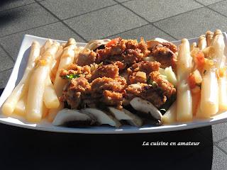 http://recettes.de/salade-asperges-champignons-et-nuggets-de-poulet