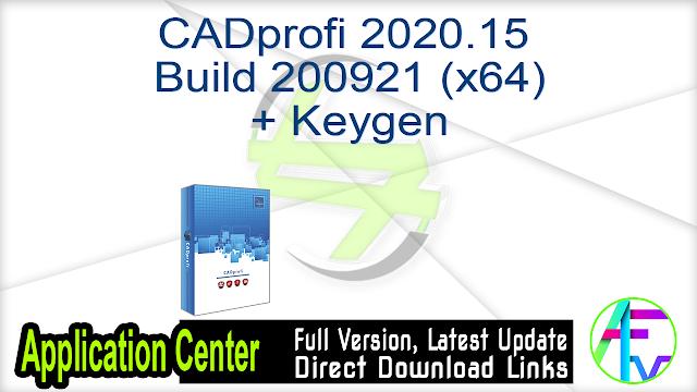 CADprofi 2020.15 Build 200921 (x64) + Keygen