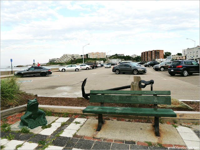 Zona de Parking en la Playa Nantasket Beach, Hull