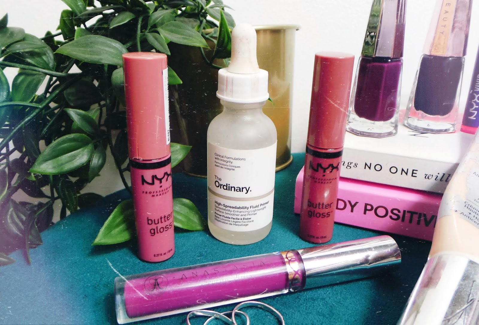 Nyx lipglosses and the ordinary fluid primer