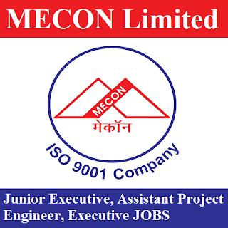 MECON Limited, Executive, Project Engineer, Graduation, Jharkhand, freejobalert, Sarkari Naukri, Latest Jobs, mecon logo