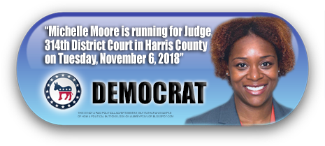 MICHELLE MOORE WILL BE ON THE BALLOT IN HARRIS COUNTY, TEXAS ON NOVEMBER 6, 2018