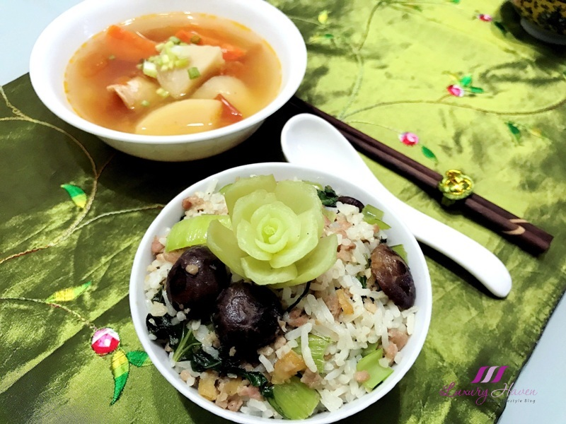 xiao bai cai healthy jade rice recipe