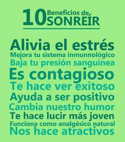 10 beneficios de sonreir