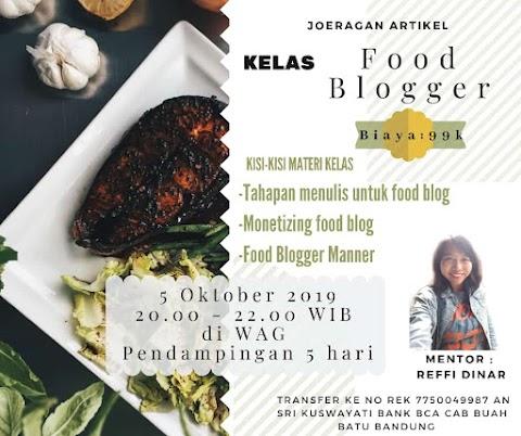 Online Class: Food Blogger Ft Joeragan Artikel