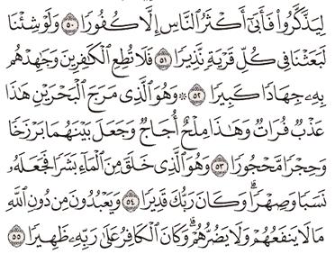 Tafsir Surat Al-Furqan Ayat 51, 52, 53, 54, 55