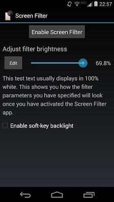 تطبيق Screen Filter لتقليل سطوع شاشة الهاتف