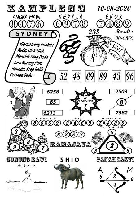 Syair Kampleng Sydney 10 Agustus