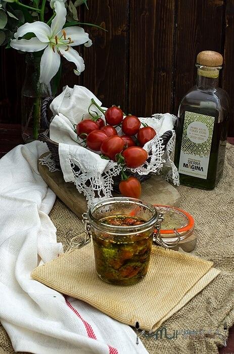 receta tomates cherries confitados