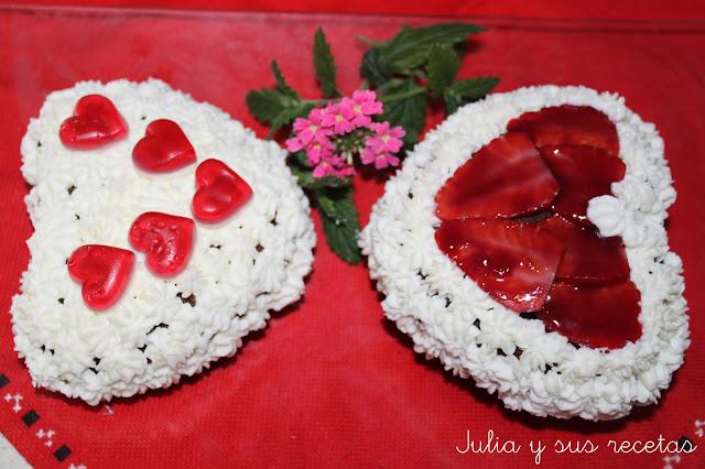 Mini tartas de fresas con crema de mascarpone. Julia y sus recetas