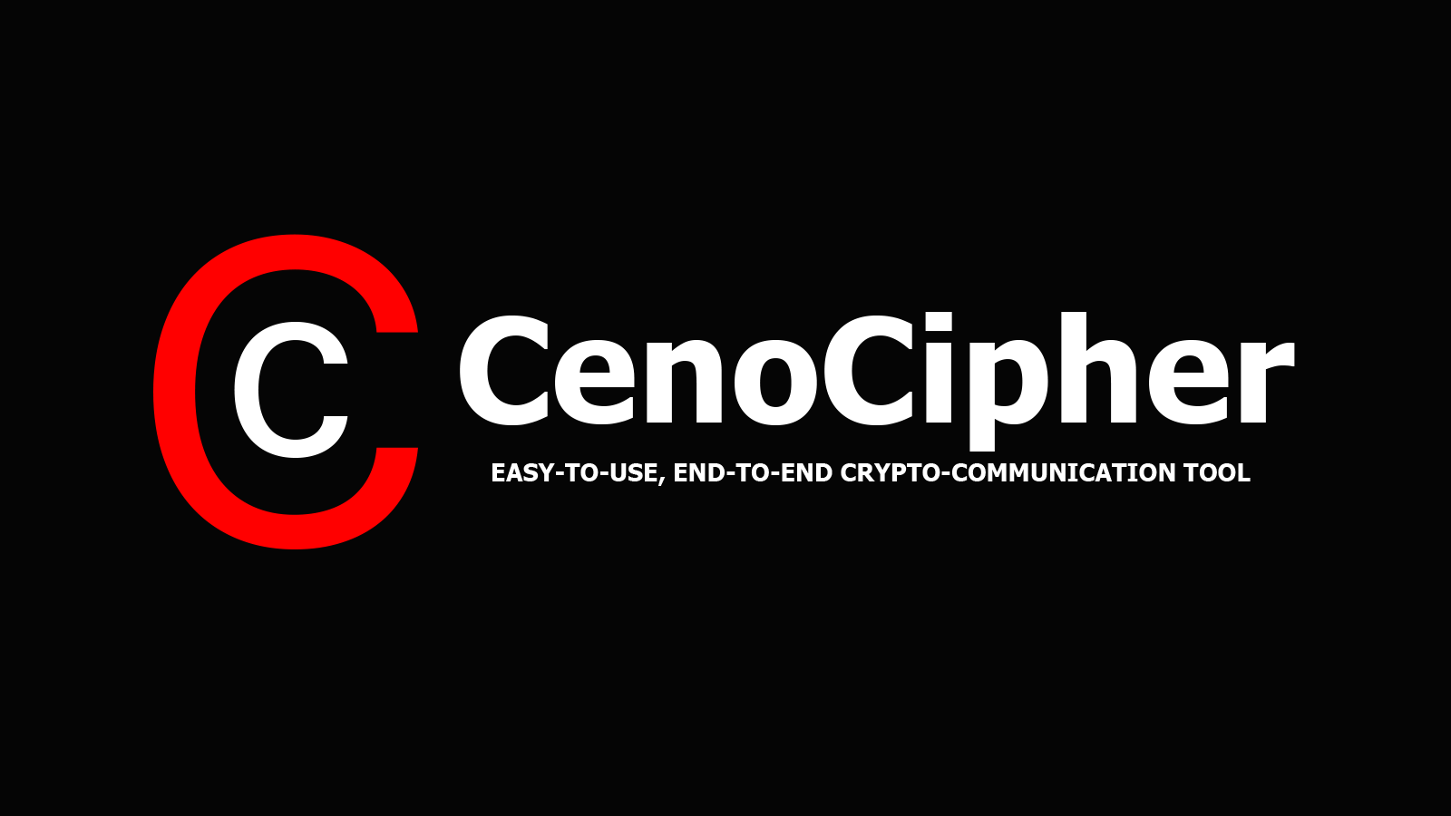 CenoCipher - Easy-to-Use, End-to-End Crypto-Communication Tool